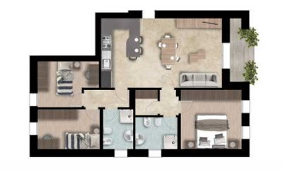 Appartamento 3 camere al piano primo